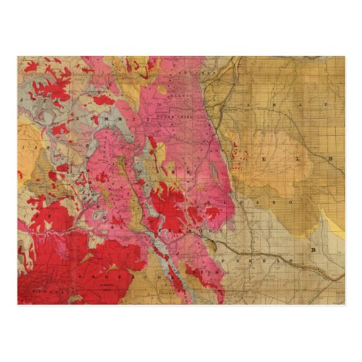 Zazzle Rand McNally's new geological map Postcard