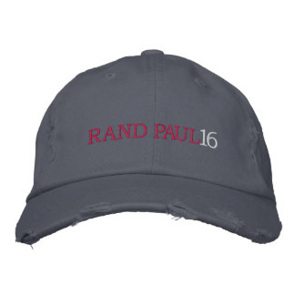 RAND PAUL 16 Ladies (Distressed Chino Twill) Cap Embroidered Baseball Cap