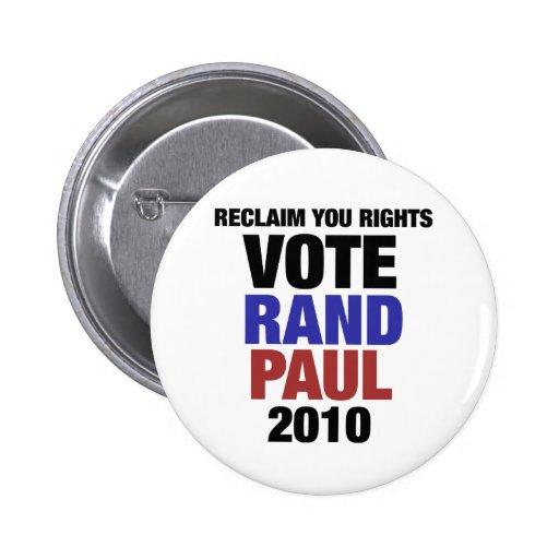 Rand Paul 2010 Buttons