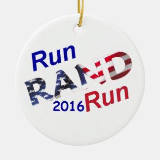 Rand Paul 2016 Adorno Navideño Redondo De Cerámica