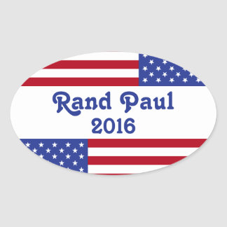 Rand Paul 2016-American Flag Oval Sticker