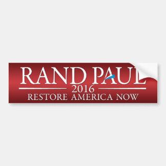 Rand Paul 2016 - americano del restablecimiento Pegatina Para Auto