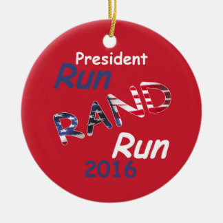 Rand Paul 2016 Ceramic Ornament