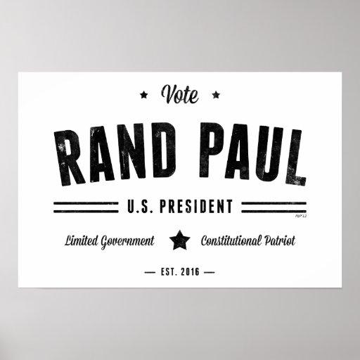 Rand Paul 2016 del voto Posters