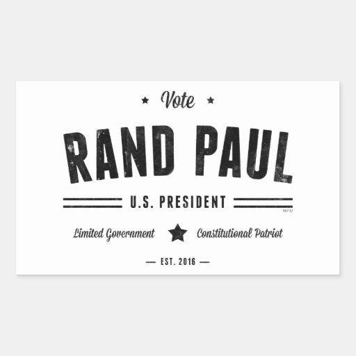 Rand Paul 2016 del voto Rectangular Altavoces