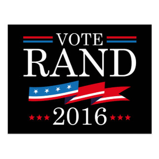 Rand Paul 2016 del voto Postales