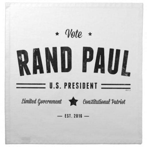 Rand Paul 2016 del voto Servilleta Imprimida