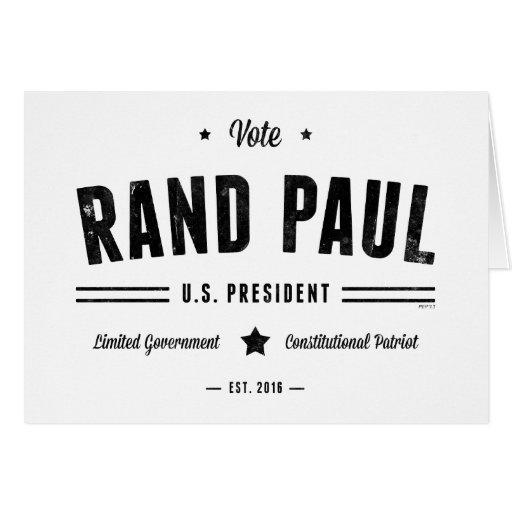 Rand Paul 2016 del voto Tarjetas
