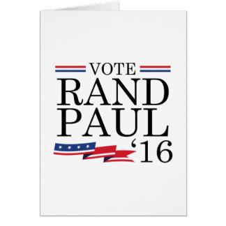 Rand Paul 2016 del voto Tarjeta De Felicitación