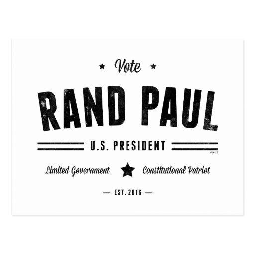 Rand Paul 2016 del voto Tarjeta Postal