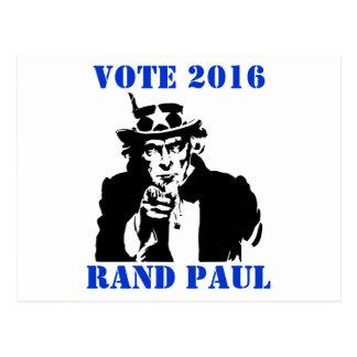 RAND PAUL 2016 DEL VOTO TARJETAS POSTALES
