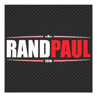 Rand Paul 2016 (estrellas y rayas - negro) Impresiones Fotográficas