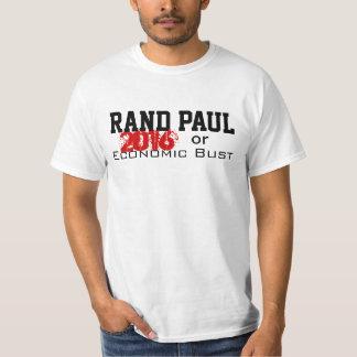 Rand Paul 2016 or Economic Bust T-Shirt! Tee Shirts