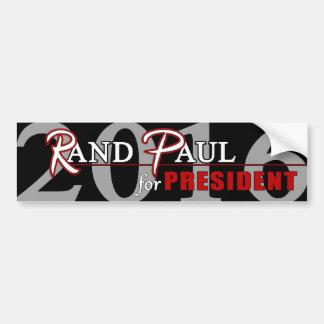 Rand Paul 2016 para el presidente Pegatina De Parachoque