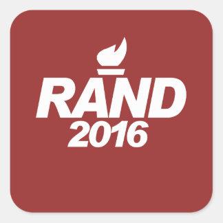 Rand Paul 2016 Pegatina Cuadrada