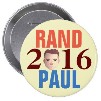RAND PAUL 2016 PIN REDONDO DE 4 PULGADAS