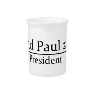 Rand Paul 2016 President Simple Design Beverage Pitchers