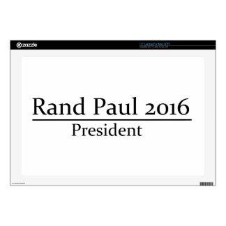 "Rand Paul 2016 President Simple Design 17"" Laptop Decal"