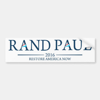 Rand Paul 2016 Restore America Now Car Bumper Sticker