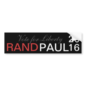 Rand Paul 2016 - Vote for Liberty Bumper Sticker