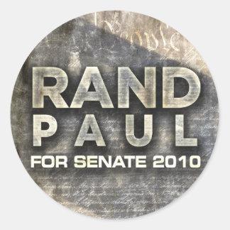 Rand Paul Classic Round Sticker