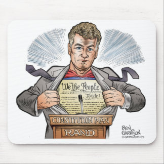Rand Paul Constitution Man Mousepad
