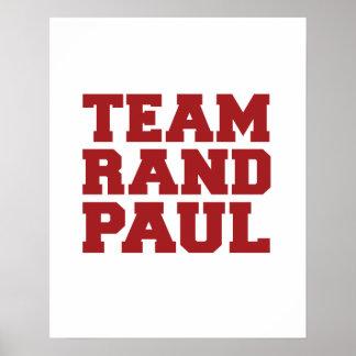 Rand Paul del equipo Póster
