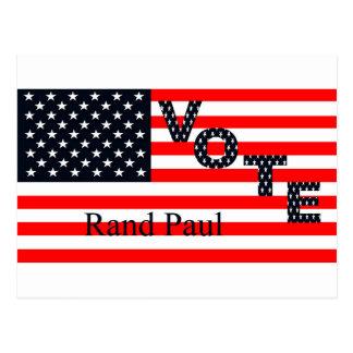 Rand Paul del voto para el presidente 2016 Tarjetas Postales