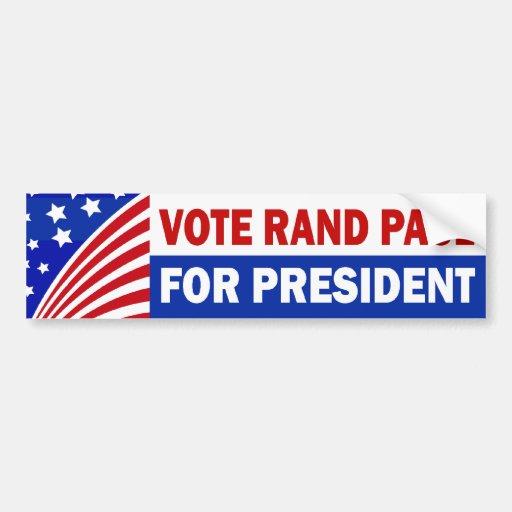 Rand Paul del voto para el presidente Etiqueta De Parachoque