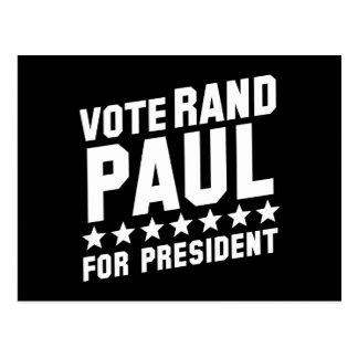 Rand Paul del voto Postales