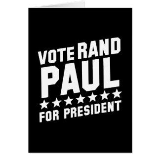 Rand Paul del voto Tarjeta De Felicitación