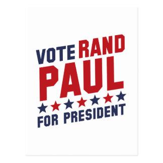 Rand Paul del voto Tarjeta Postal