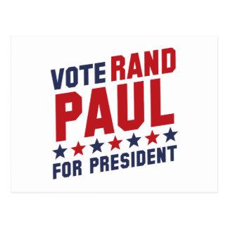 Rand Paul del voto Tarjetas Postales