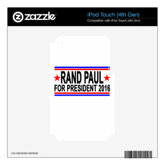 RAND PAUL FOR PRESIDENT 2016.png Decal For iPod Touch 4G
