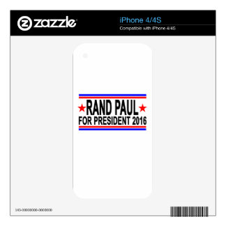 RAND PAUL FOR PRESIDENT 2016.png Decals For The iPhone 4