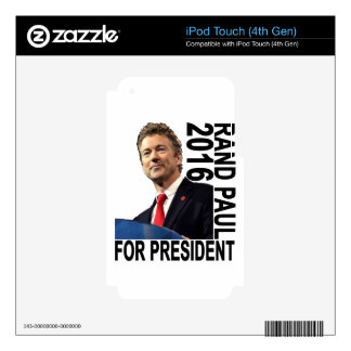 RAND PAUL FOR PRESIDENT 2016 ''.png Skins For iPod Touch 4G