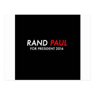 Rand Paul for President 2016 Postcard