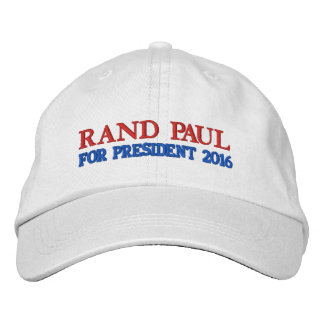 RAND PAUL FOR PRESIDENT 2016 WHITE MEN'S CAP