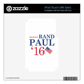 Rand Paul For President Decals For iPod Touch 4G