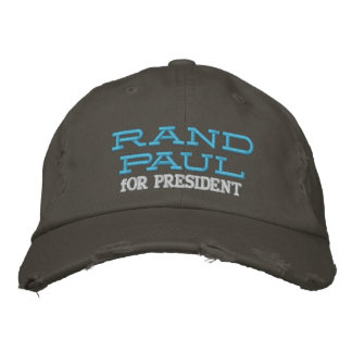 RAND PAUL FOR PRESIDENT DISTRESSED CHINO TWILL CAP