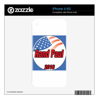 Rand Paul for President in 2016 iPhone 4 Skin