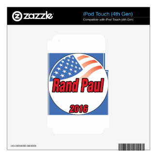 Rand Paul for President in 2016 iPod Touch 4G Skin