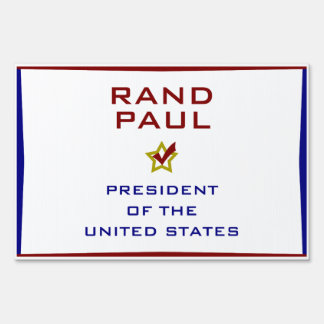 Rand Paul for President USA Yard Lawn Sign