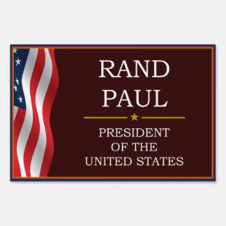 Rand Paul for President V3 Yard Lawn Sign
