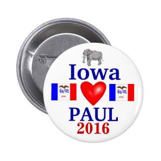 rand Paul Iowa 2016 Pin Redondo De 2 Pulgadas
