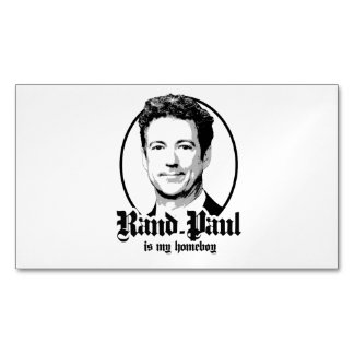 Rand Paul is my Homeboy Magnetic Business Cards (Pack Of 25)