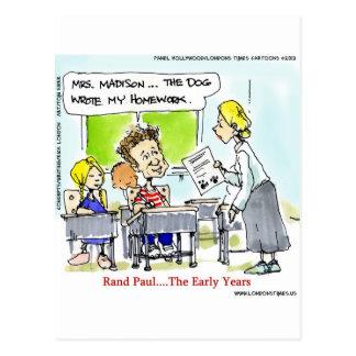 Rand Paul los años divertidos Tarjetas Postales