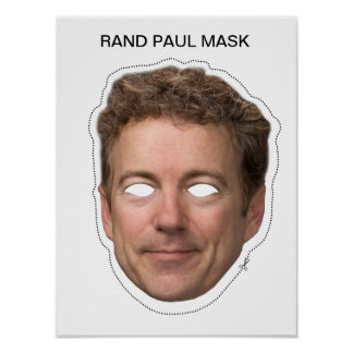 Rand Paul Mask Poster