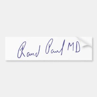 Rand Paul MD Signature Autograph Bumper Sticker