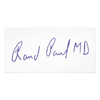 Rand Paul MD Signature Autograph Personalized Photo Card